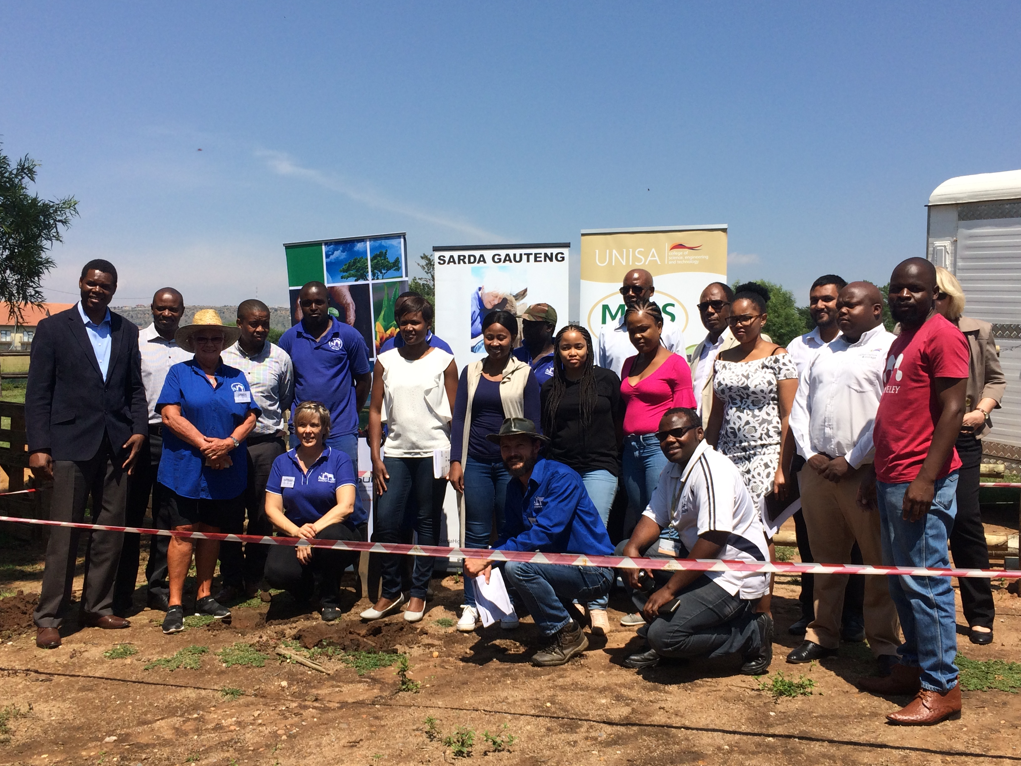 Group Picture at Biodigester site