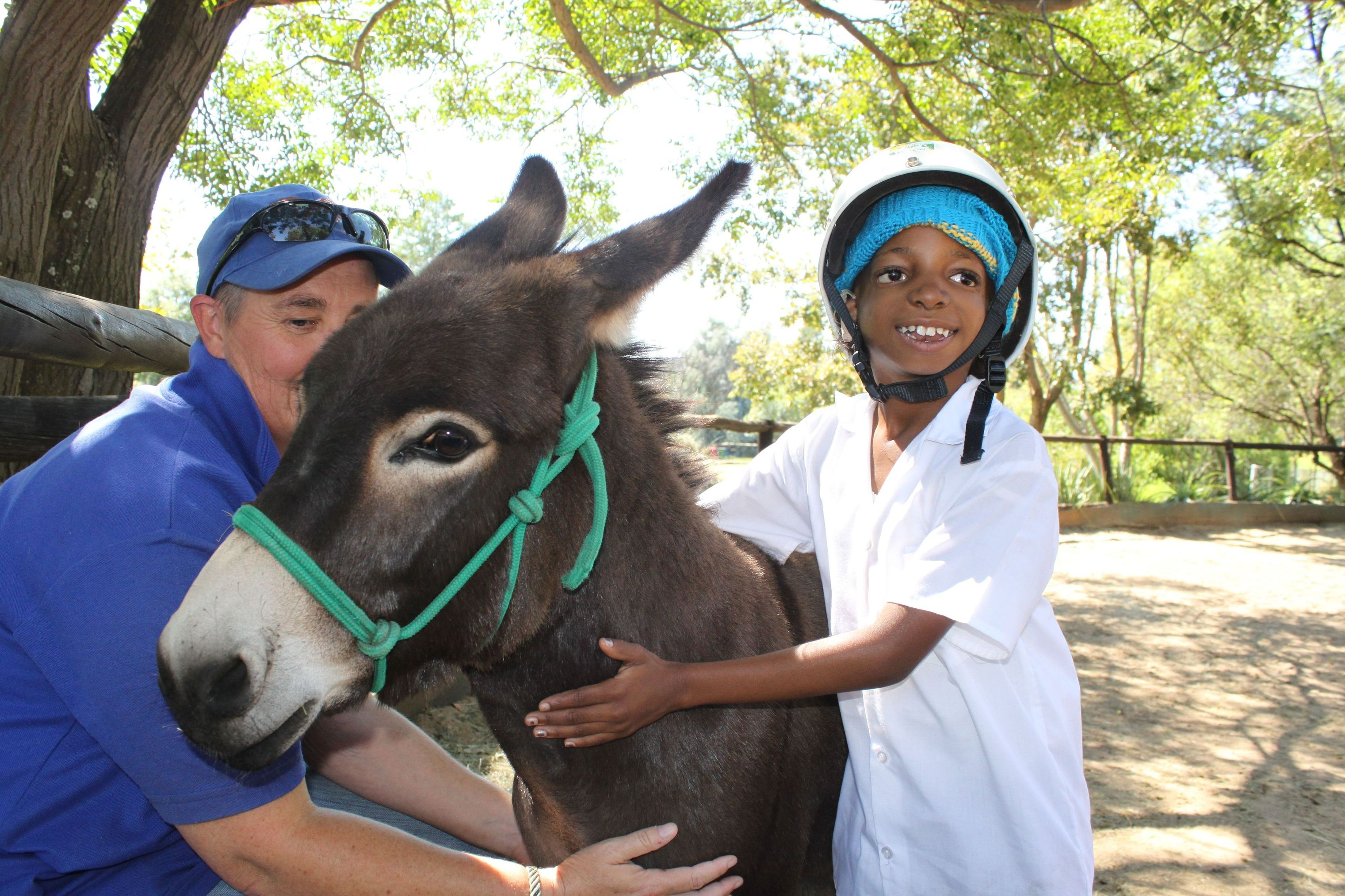 Chat n Pat with Thandi miniature donkey and a deaf rider